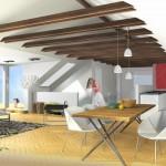 KR63 Maisonette - Visualisierung Wohnraum