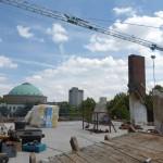 LUEER - Abriss Dach mit Blick auf HCC Kuppelsaal